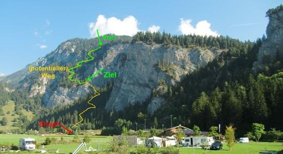 Weg von Trin Mulin auf die Alp Mora